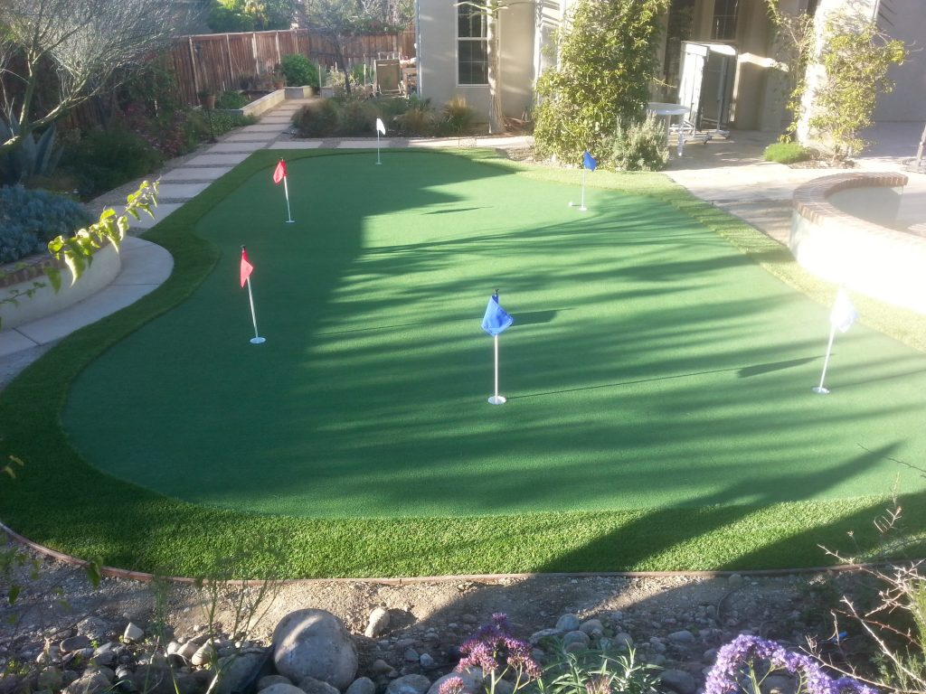 Synthetic Turf Putting Greens For Backyards Inland Empire, Best Artificial Lawn Golf Green Prices