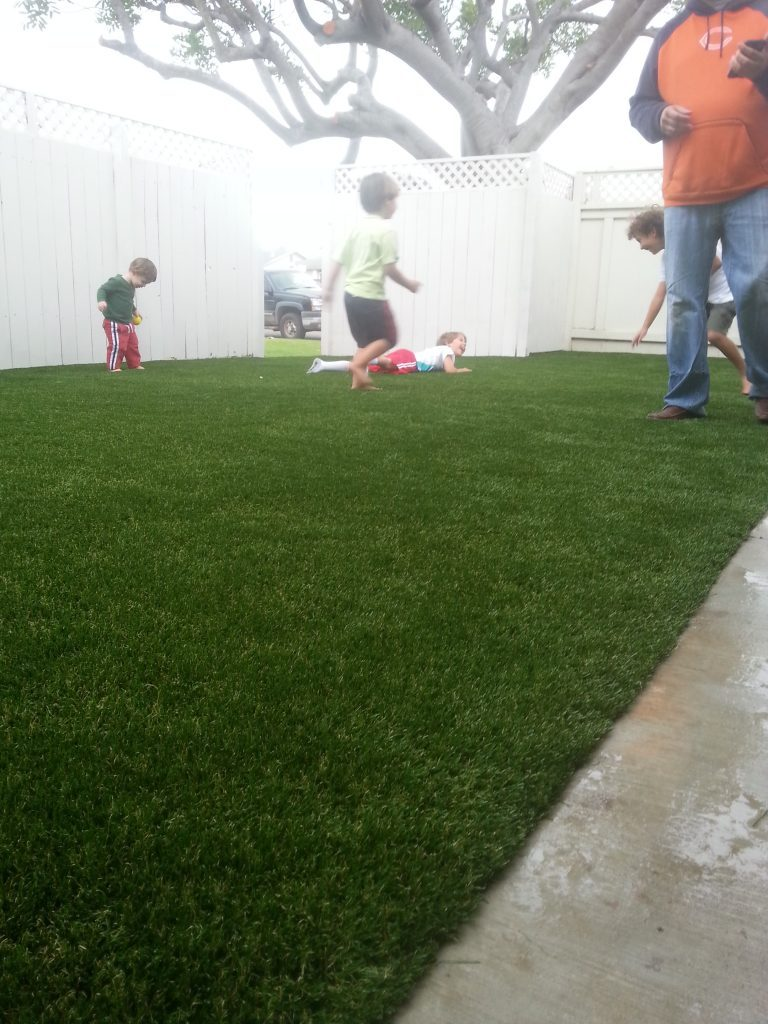 Synthetic Lawn Playground Installation Inland Empire, Best Artificial Turf Backyard Playgrounds
