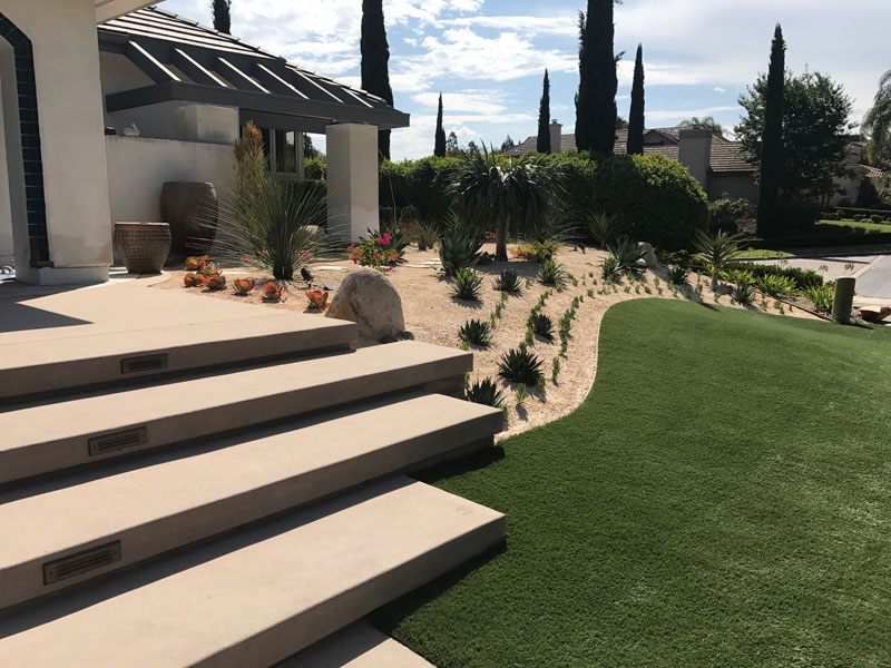 Synthetic Turf Installation Contractor Projects Inland Empire, New Residential or Business Project Artificial Landscape Installation